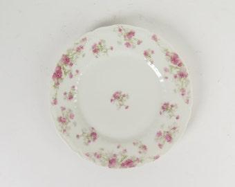 """Haviland Limoges France pink asters salad plate 7.5"""" Schleiger 262B antique"""