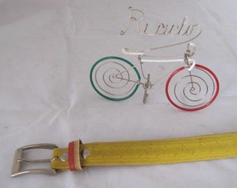 Yellow Bicycle Tire belt made in Italy