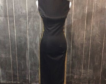 Vintage Alfred Shaheen black maxi dress