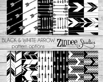 Arrows Black and White Pattern Vinyl HEAT TRANSFER or ADHESIVE