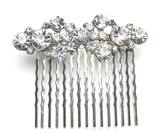 Wedding diamante hair comb, vintage style bridal hair comb, rhinestone bridal hair comb, wedding comb, bridal accessories, haircomb, Ziya