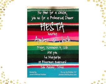 Fiesta Rehearsal Dinner Invitations Mexican Rehearsal Dinner Invitations Serape Fiesta Rehearsal Dinner Invitations Casual