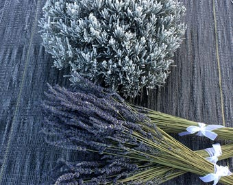 Dried Lavender Bundles, bouquets, handmade, Grosso, Gros Bleu, Hidcote Giant, 2017, crafting, weddings, decorations