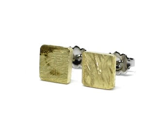 Christmas Gift Brass Earting Studs Square Cut Stainless Steel 7mm