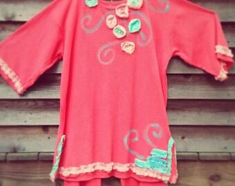 GULF SHRIMP Ladies to Plus Size Comfy Art Tunic Made To Order KellyJacksonDesign