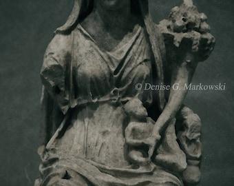 Fortuna ~ Dark Art Photography Print ~ Fortuna Goddess Statue  Photograph ~ Oddities ~ Gothic Decor