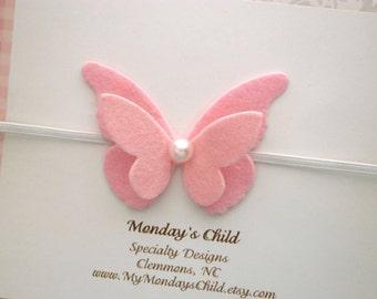 Butterfly Headband, Butterfly Baby Headband, Baby Headband, Felt Headband, Felt Butterfly Headband, Newborn Headband, Toddler Headband