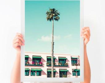 California Wall Art, Santa Monica Print, Palm Tree Printable, Printable Art, Printable Photography, Instant Download, Printable Poster
