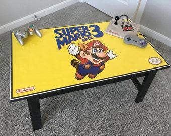 Super Mario Bros 3 Retro Videogame Nintendo NES Coffee Table