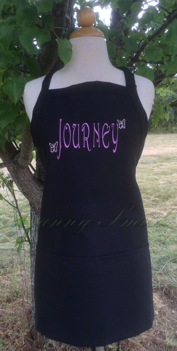"""Name bib apron you customize with small designs + NO pockets (28""""L x 24""""W) Birthday, Anniversary, Sister, Mother, Aunt, Step-family, Cousin,"""