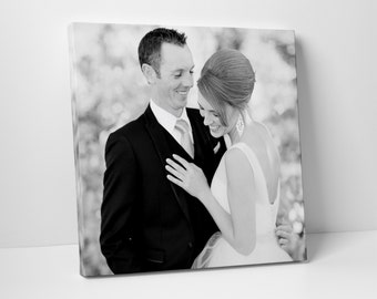 Valentine's Day Gift, First Paper Anniversary Gift, Wedding Vows on Canvas, Fathers Day, For Him, For Her, Wedding Sign, Vow Renewal