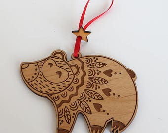 Bear ornament- Christmas Tree Ornament- Christmas Gift