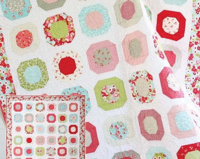 Dottie Quilt Pattern #126 by Cluck Cluck Sew - Layer Cake and Fat Quarter Friendly - Experienced Beginner or Intermediate (W748)