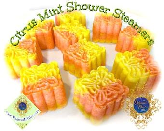 Citrus, Mint, Shower Steamer, Shower Bombs, Shower Cakes, Shower Aromatherapy, Shower Fizzy, Steamer