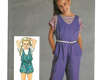 Simplicity 6862 Girls Jumpsuit And Pullover Top Pattern, Size 10-12-14, UNCUT