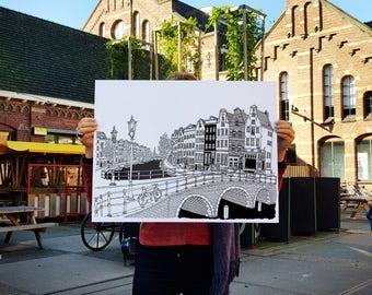 Keizersgracht, Amsterdam - Silkscreen Print - Limited Edition