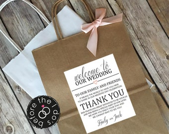 Wedding welcome bags | Etsy