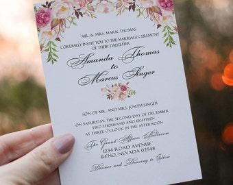 Printable Wedding Invitations Birthday Party Invitation Template Printable Birthday Party Invitation Printable Wedding Invitations DIY