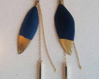 Feather Wisp Earrings // 14k Gold Dangles