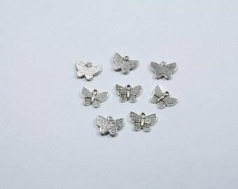 BR94 - Set of 8 butterflies in silver