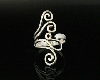Swirly Swirl Ring // 925 Sterling Silver // Hand Cast // Sterling Swirl Ring