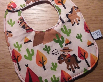 Bib pattern cowboys and Indians - cotton