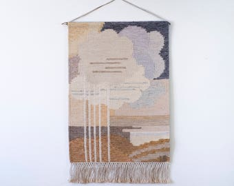 Tapestry by Ingegerd Silow Swedish Flat Weave Wall Hanging Modernist Scandinavian Weaving Mid Century Modern Interior Wall Decorations