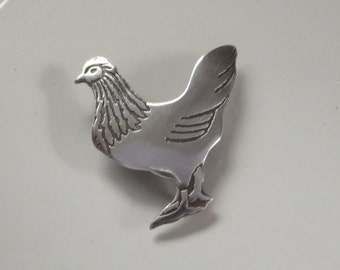 Hen Chicken Brooch