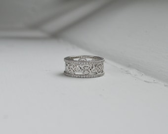 Wide eternity band Etsy