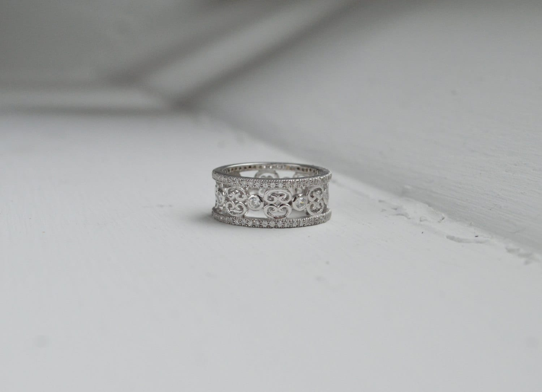 zoom - Art Deco Wedding Ring