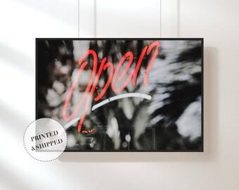 Neon Light Print, Light Abstract, Wall Art, Light Print, Photography Print, Art, Modern Decor, Modern Interior, Scandinavian Print,