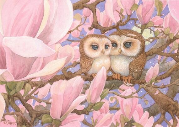 Love Owls 8.5x11 Print