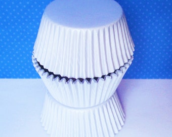 White Foil Cupcake Liners Standard Size- Choose Set of 50 or 100