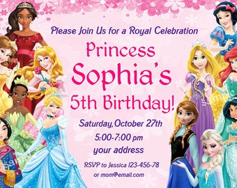 Princess invitation Etsy