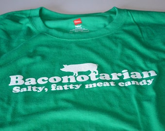 Boyfriend Gifts Bacon Shirt for Him - Geek Stocking Stuffers - Funny Bacon Tshirt for Men - Meat Candy