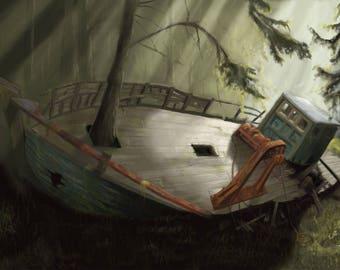 Forest Boat: Digital Download
