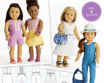 American Girl Doll Clothes Pattern, 18 inch Doll Clothes Pattern, Simplicity Sewing Pattern 8191