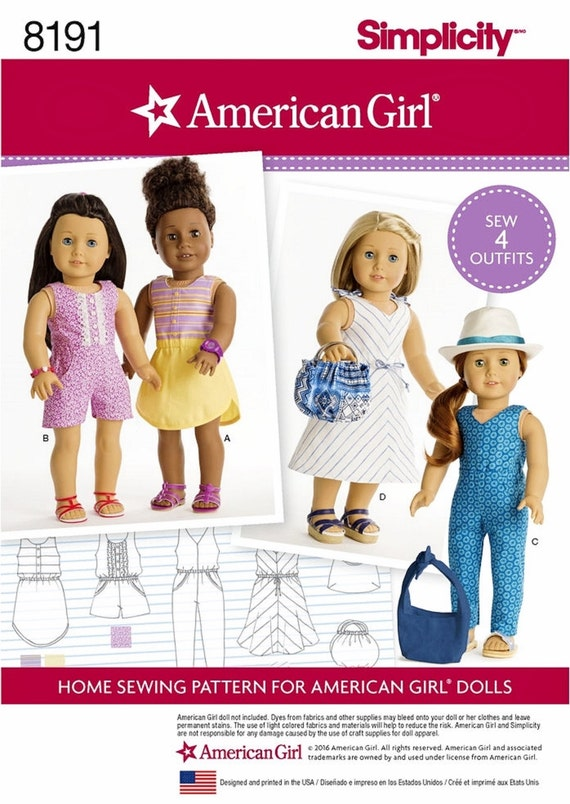 Sewing Pattern American Girl Doll Clothes Pattern 18 inch
