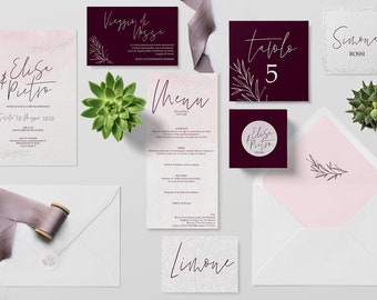Invitations de mariage mariage mariage invitations-suite-modèle Buenos Aires