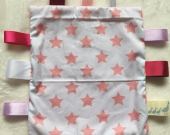 Pink star design taggy