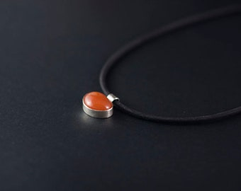 Natural Stone Necklace;Rubber Necklace; #cool girl