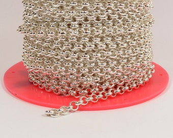 5ft 5.7mm Rolo Chain - Silver Plated - 5.7mm Links - CH81