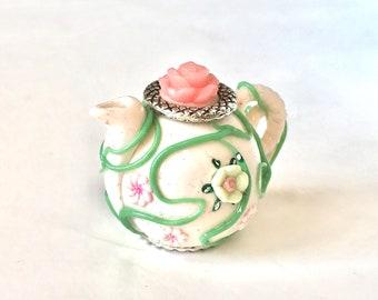 Spring Teapot - 1/12 scale handmade miniature
