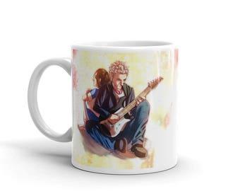 A Girl, A Boy, and His Guitar - Doctor Who 12 & Clara Mug