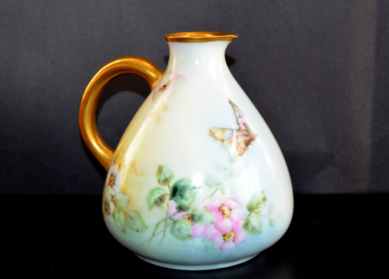 Antique rosenthal porcelain cider pitcher hand painted bavaria zoom reviewsmspy