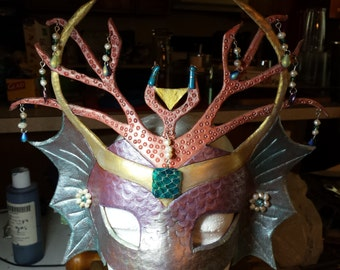 Water elemental leather mask