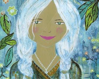 Gemma dans le jardin de nuit
