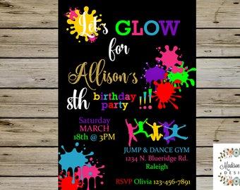 Glow in the dark invitations DIY Glow party invitations