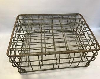 Steel Milk Creamer Crate, Metal Wire