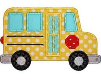 School Bus Applique, School Bus Shirt, Bus Applique, School Shirt, Bus Shirt, Yellow Bus, Pre-School Shirt, Back to School Applique